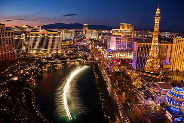 Luftbild von Las Vegas Strip bei Sonnenuntergang – Foto