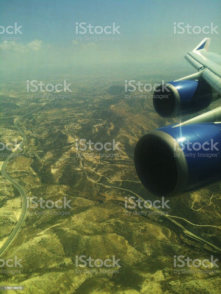 Arial View of mountain landscape road royalty-free stock photo