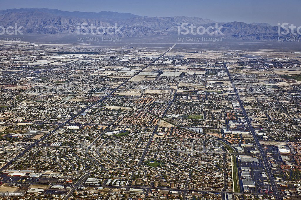 Arial View of Northern Las Vegas Nevada USA stock photo
