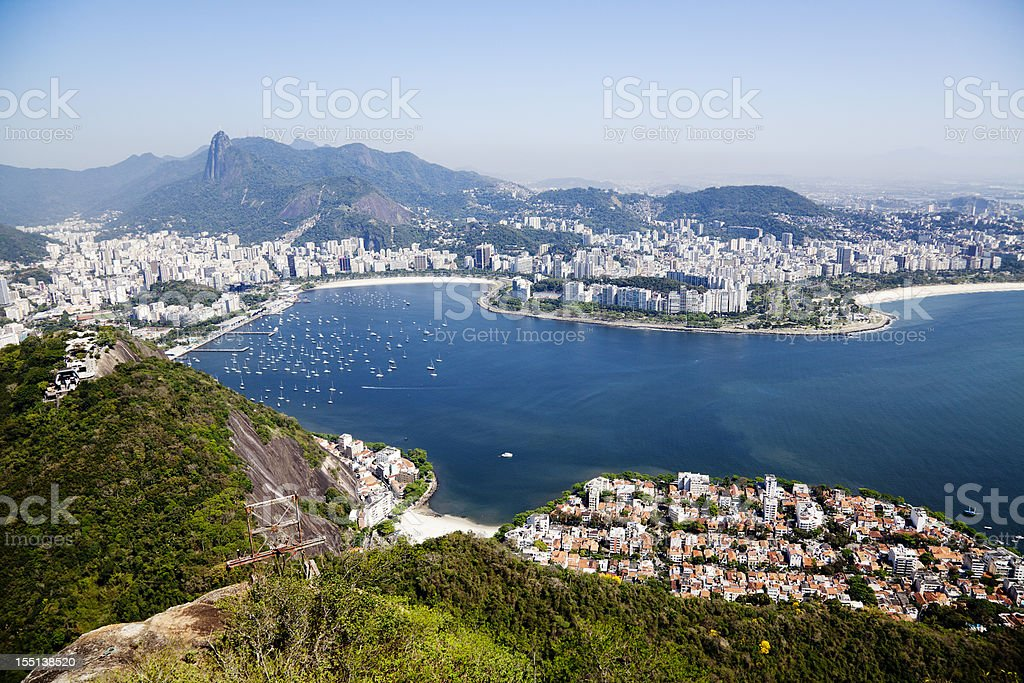 Arial view of Rio de Janeiro, Brazil royalty-free stock photo