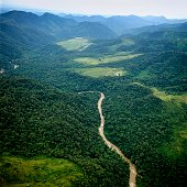 Uribante-Caparo river neart to Uribante dam in Tachira state Venezuela