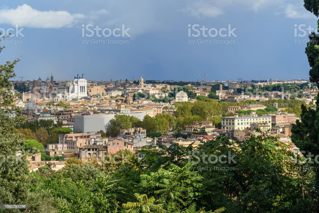Arial View Of Rome City From Janiculum Hill Terrazza Del