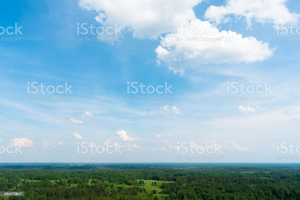 Arial view to countryside stock photo