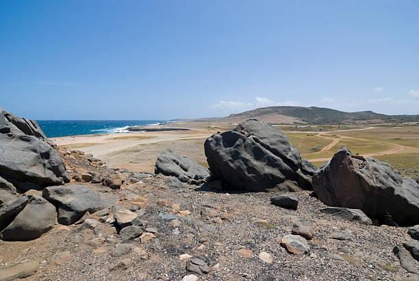 Arid Coastal Landscape stock photo