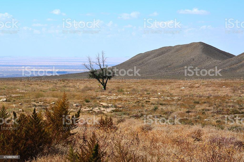 Arid landscape, Inner Mongolia stock photo