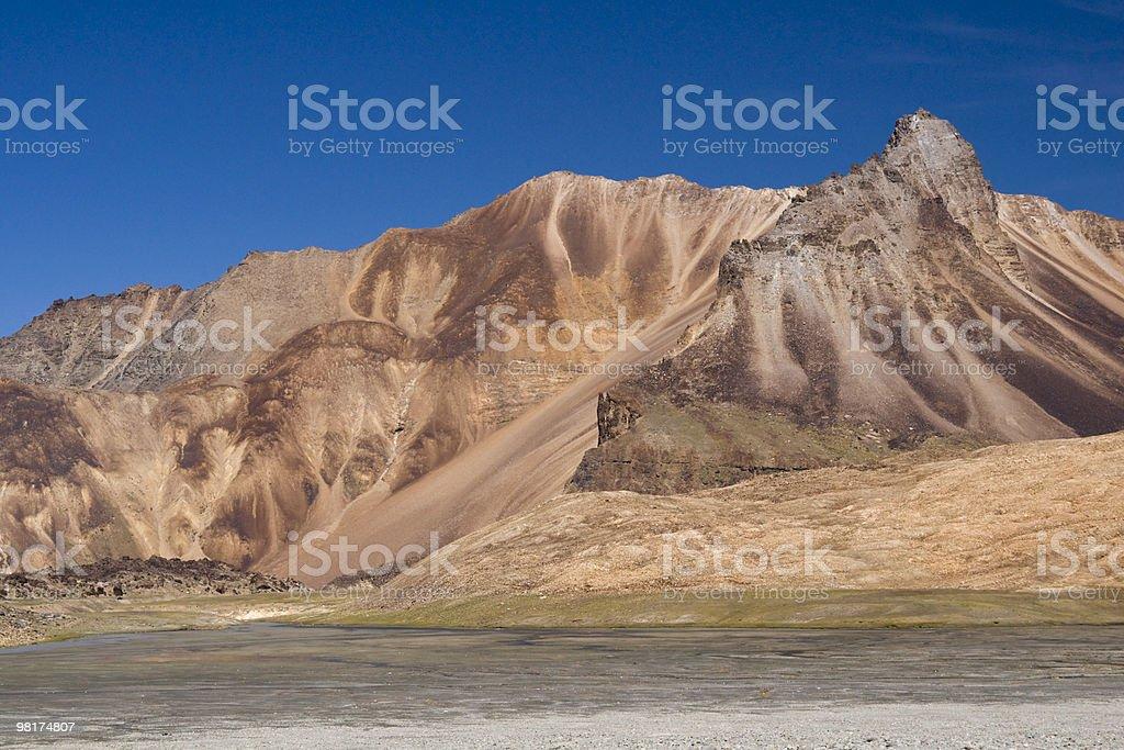 건조 산맥의 라다크 royalty-free 스톡 사진