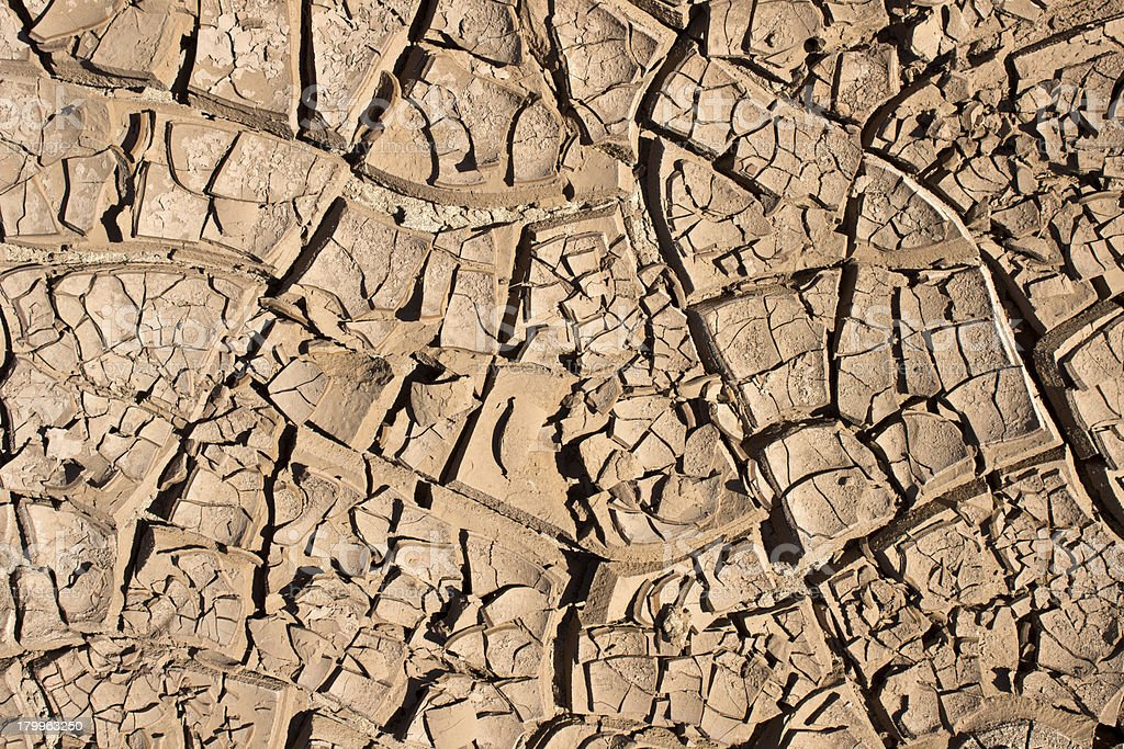 Arid soil royalty-free stock photo