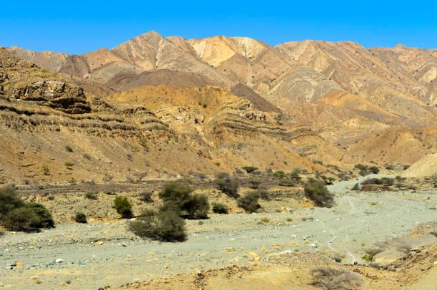 Trockenes Tal in der Danakil-Wüste – Foto