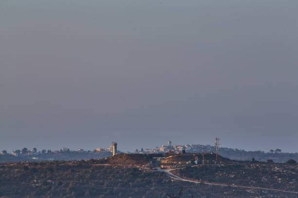 Ariel 03 December, 2016: Mountain view with military base - Photo
