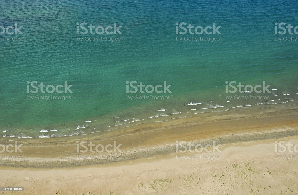 Ariel Beach View stock photo