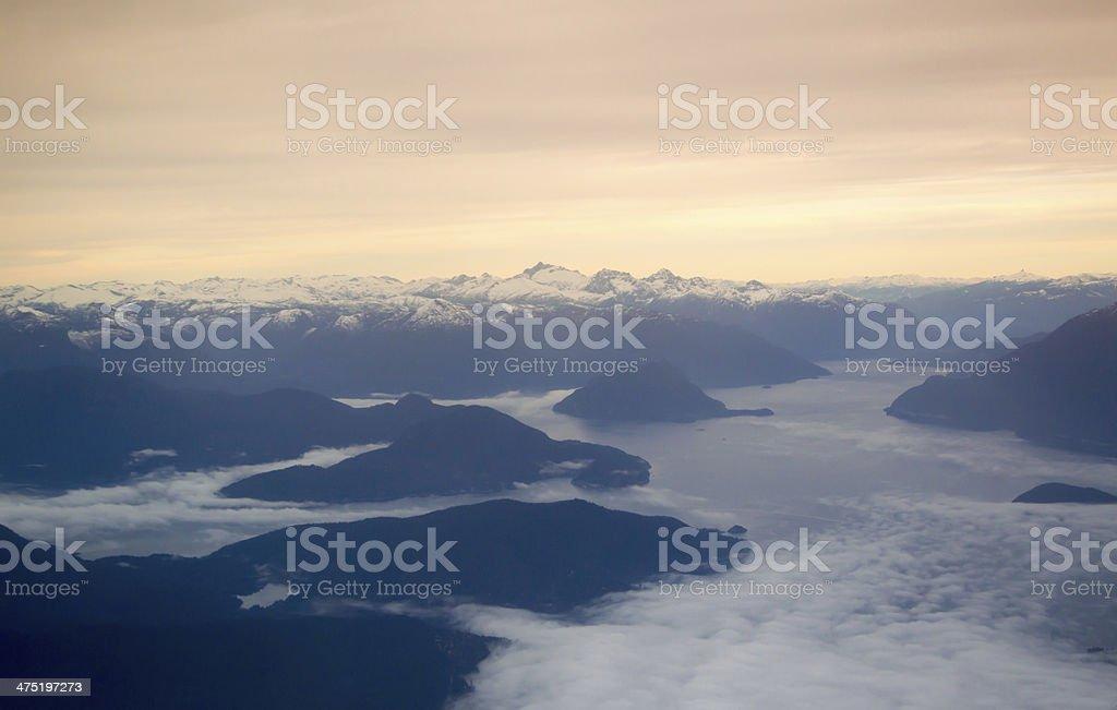 Ariel of Howe Sound stock photo