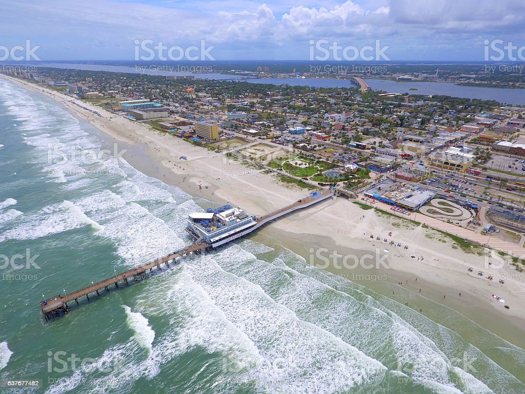 Ariel photo of Daytona Beach Florida stock photo