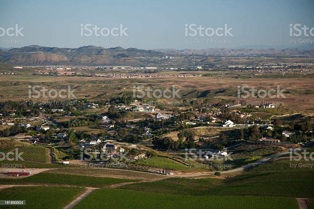 Ariel View of a rural town royalty-free stock photo