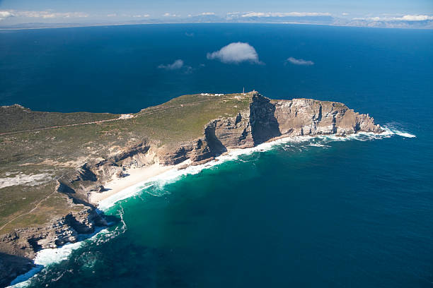 ariel view of cape of good hope - cape peninsula stock pictures, royalty-free photos & images