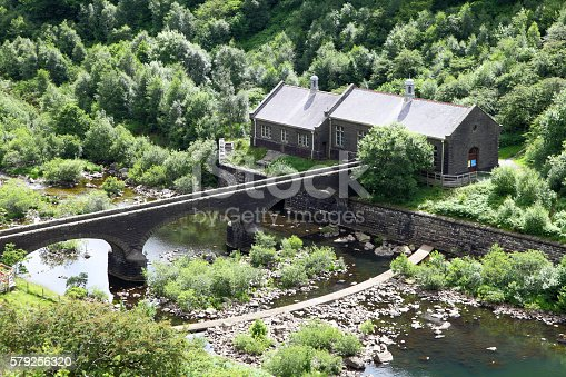 footbridge to dam pump house near dam