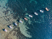 Ariel View of Small Sailboats