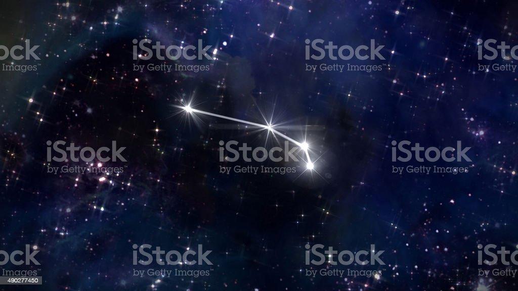 1 Aries Horoscope star white stock photo