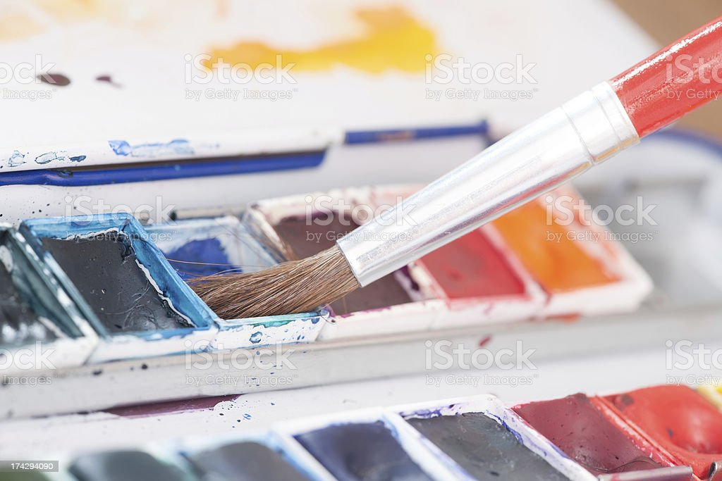 Aristic paint and brushes - Royalty-free Animal Hair Stock Photo