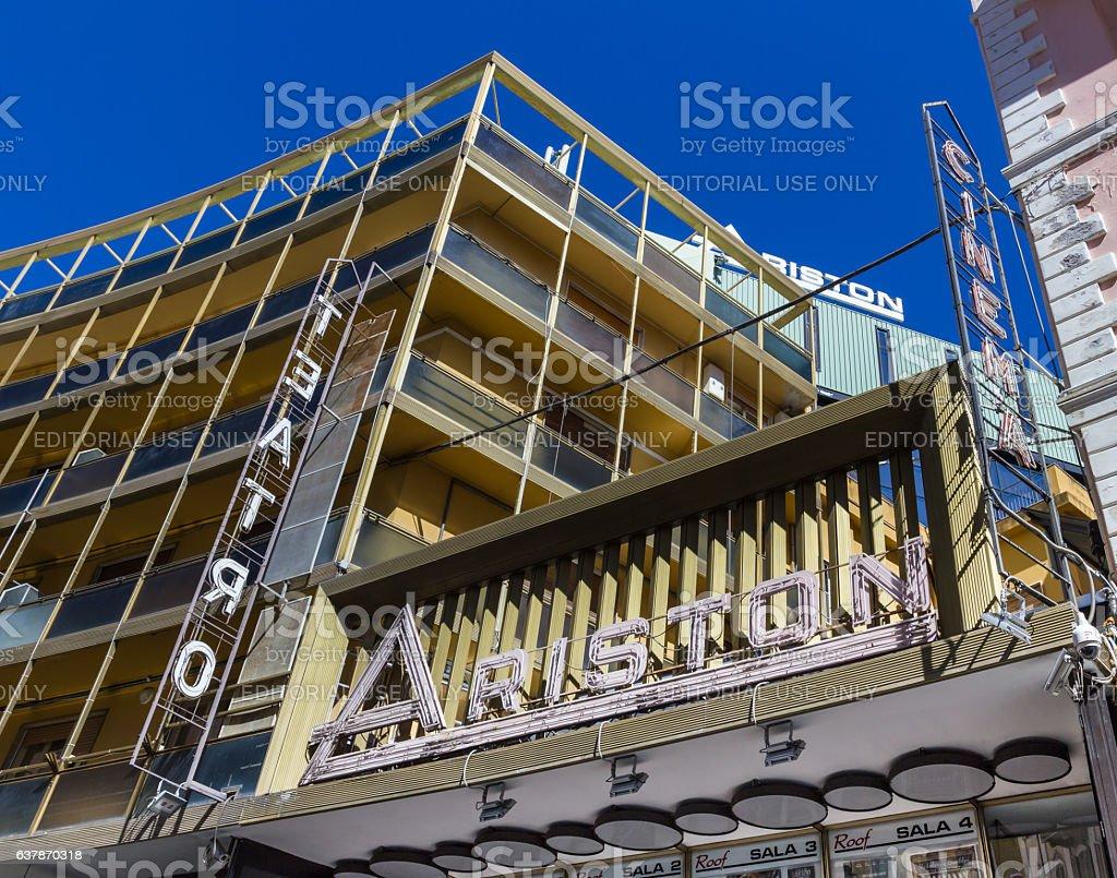 Ariston theater stock photo