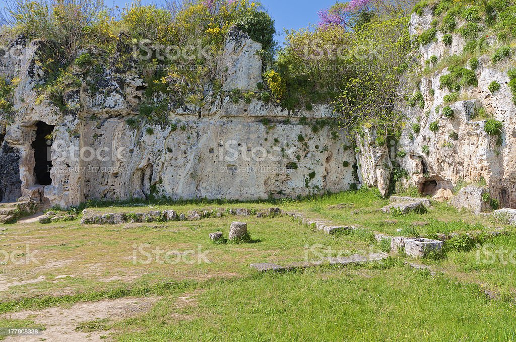 Aristoteles ancient school in Greece stock photo