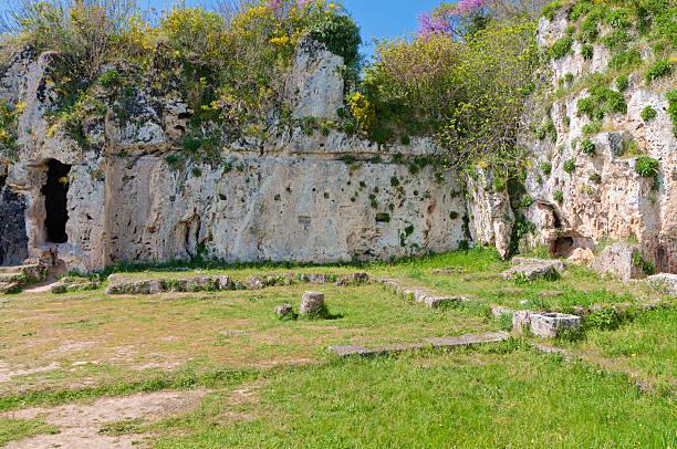 Aristoteles ancient school in Greece stock photo