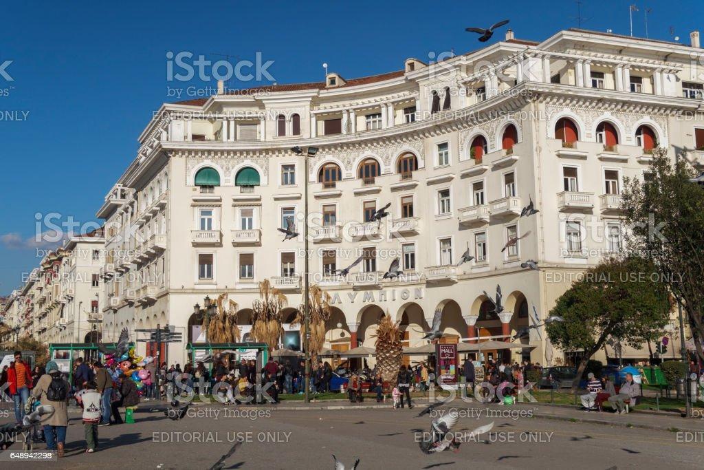 Aristotelous square day view. stock photo