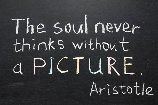 Aristotle quote stock photo