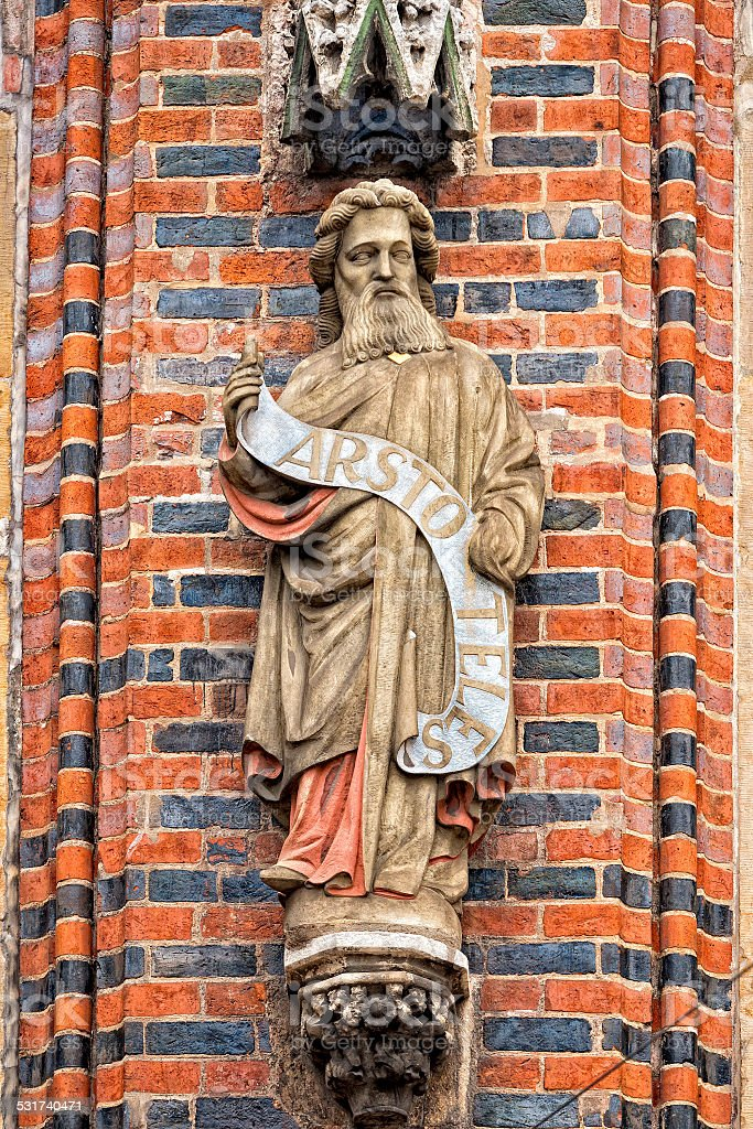 Aristoteles-statue in bremen city hall – Foto