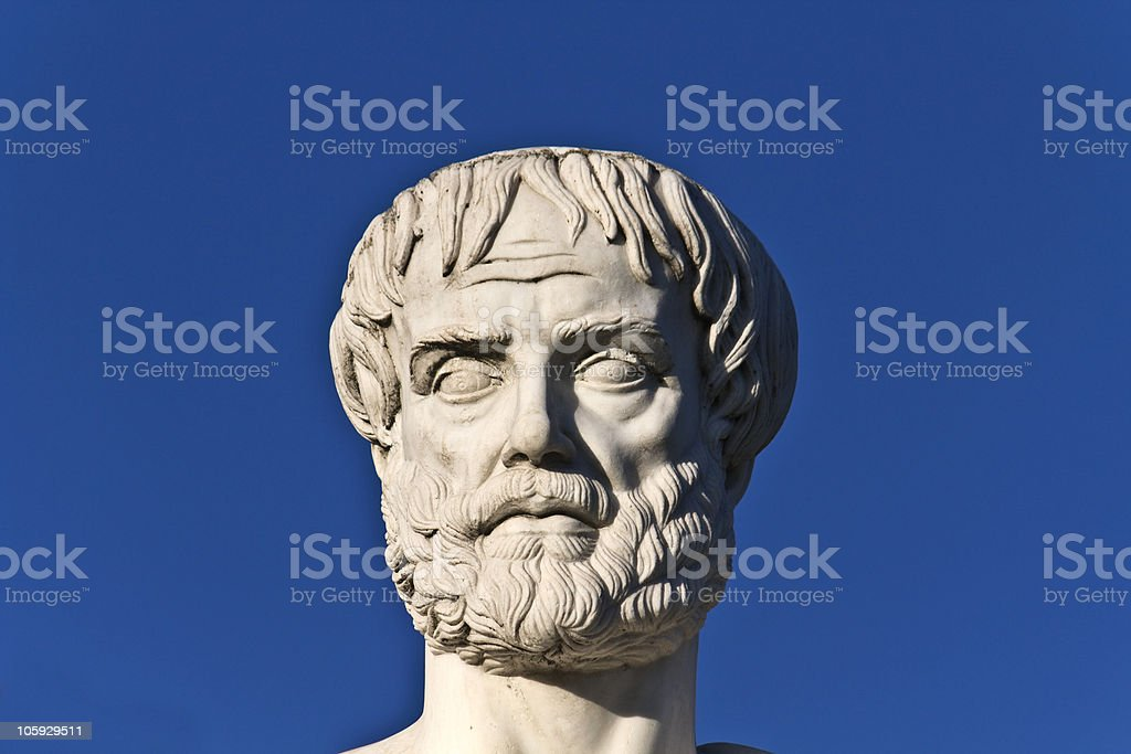 Aristotle statue stock photo
