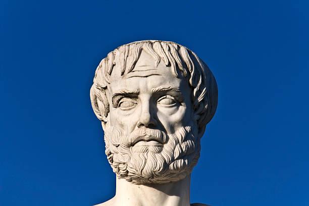 Aristotle statue stock photo