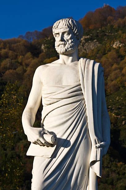 Aristotles statue stock photo