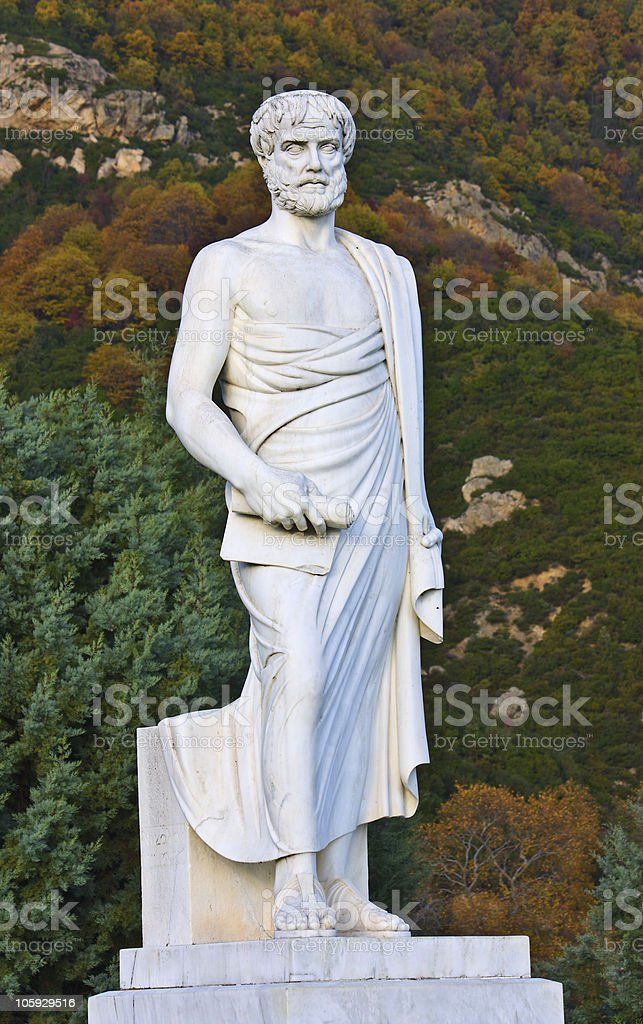 Aristotles statue stock photo