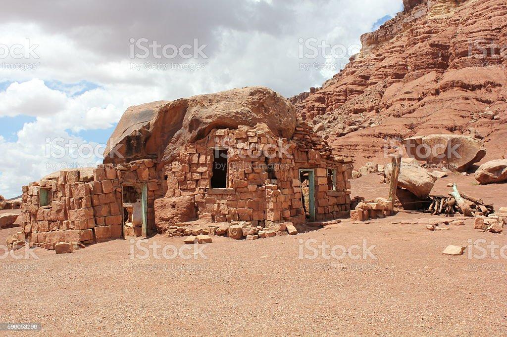 Arizona Cliff Dwellers Rock House royalty-free stock photo