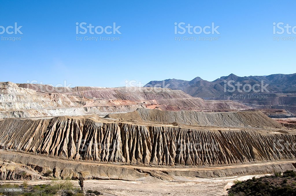 Arizona Copper Mining Operation stock photo