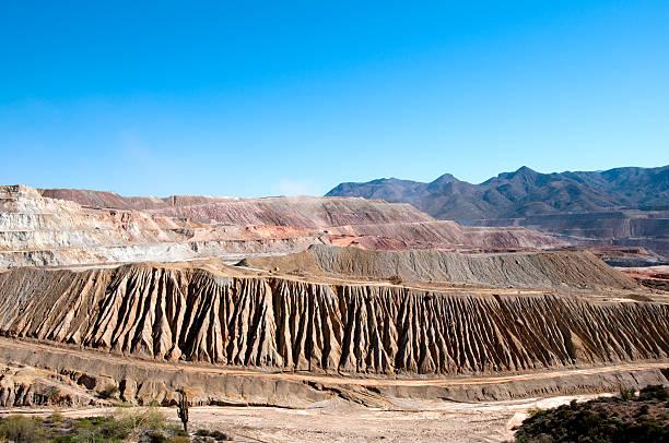 Arizona Copper Mining Operation stock photo