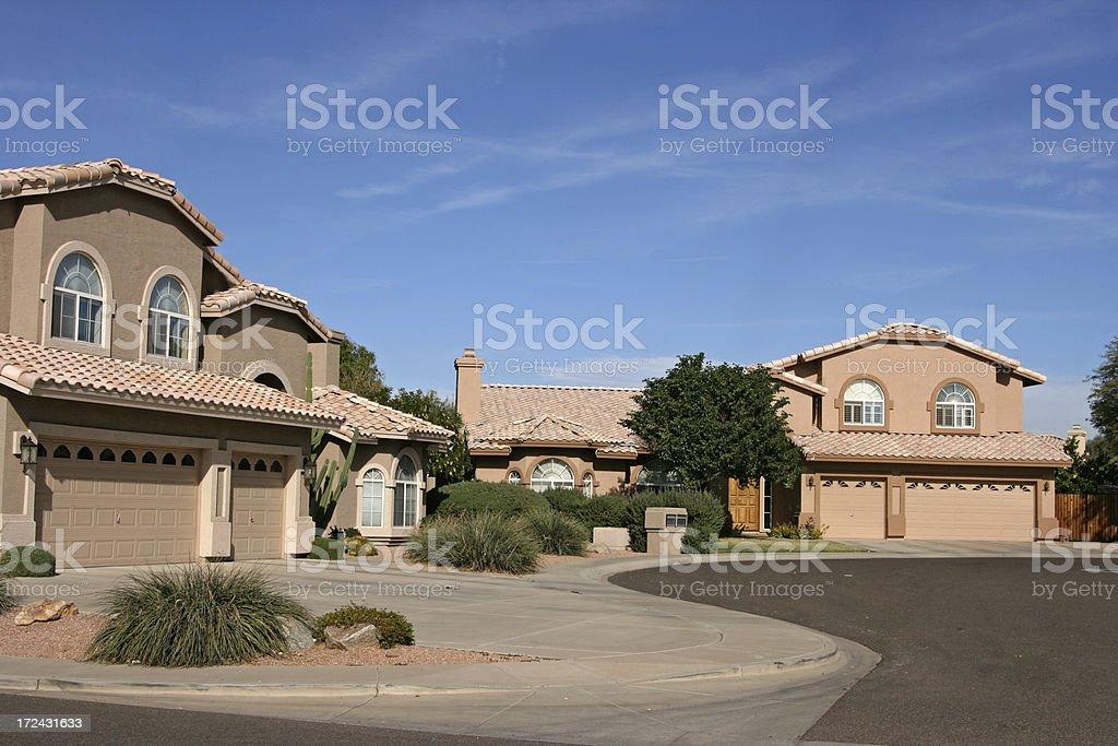 Arizona Cul De Sac stock photo