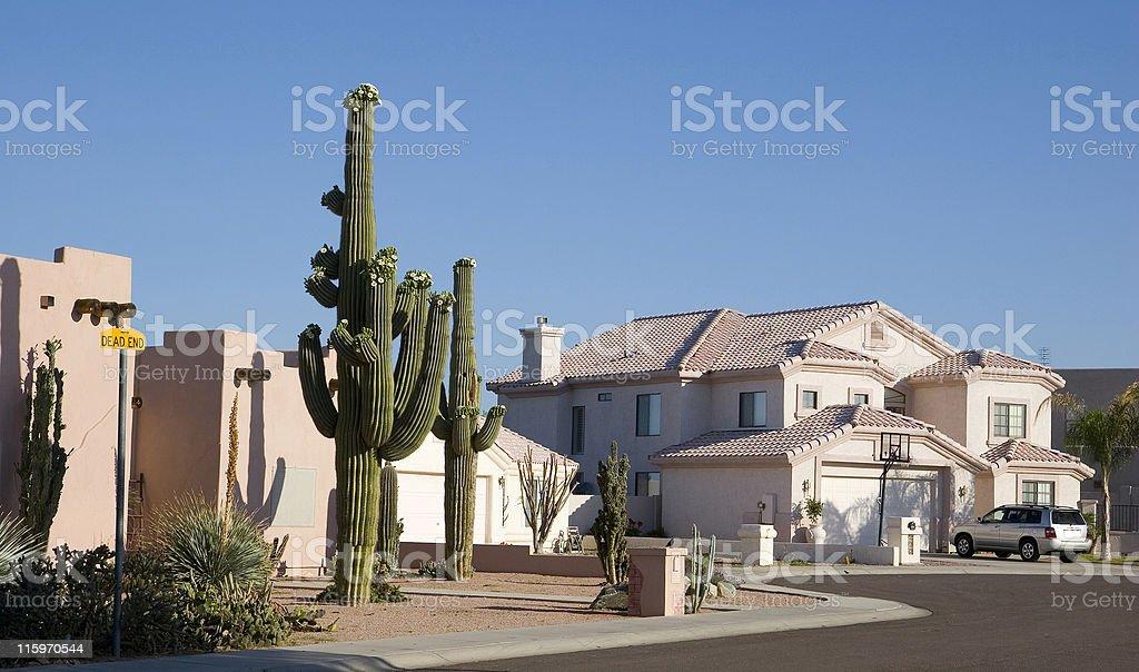 Arizona Cul-de-sac stock photo