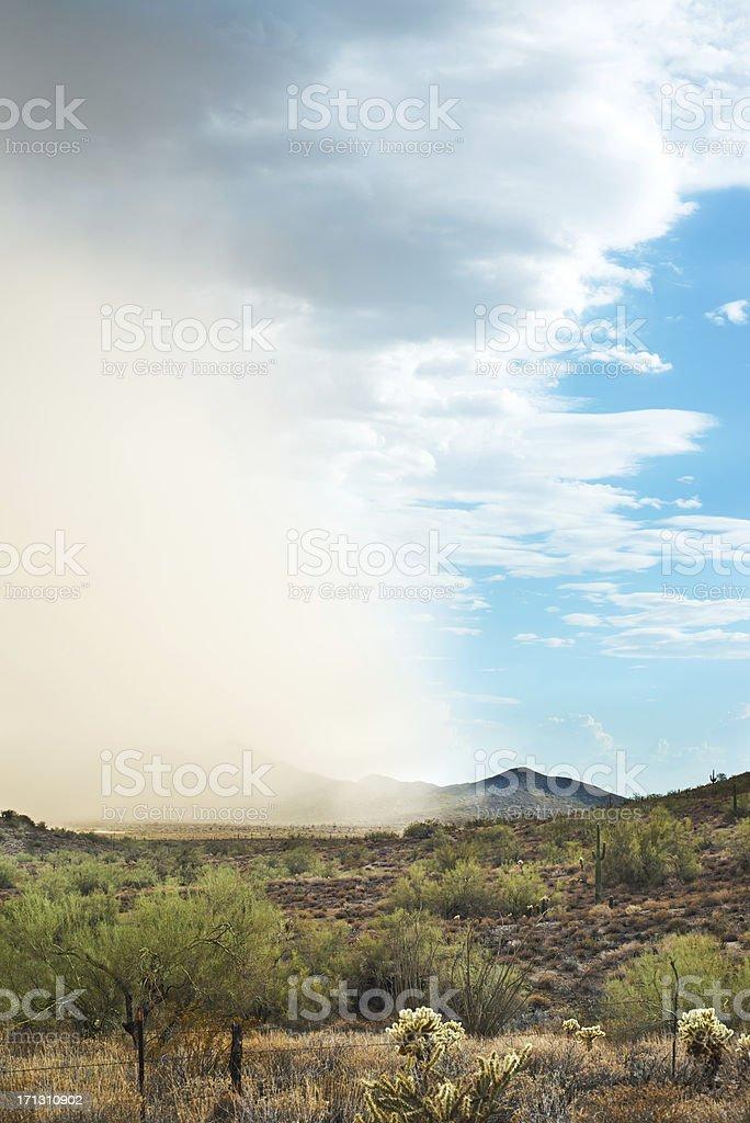 Arizona Desert Dust Storm stock photo