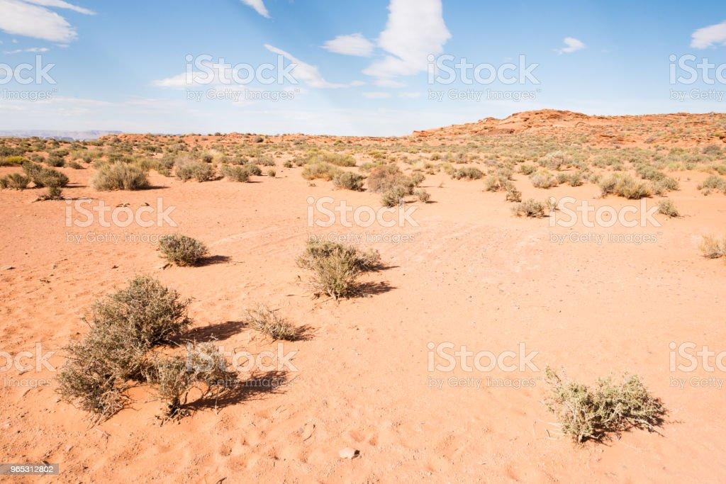Arizona Desert Landscape Glen Canyon National Recreation Area zbiór zdjęć royalty-free