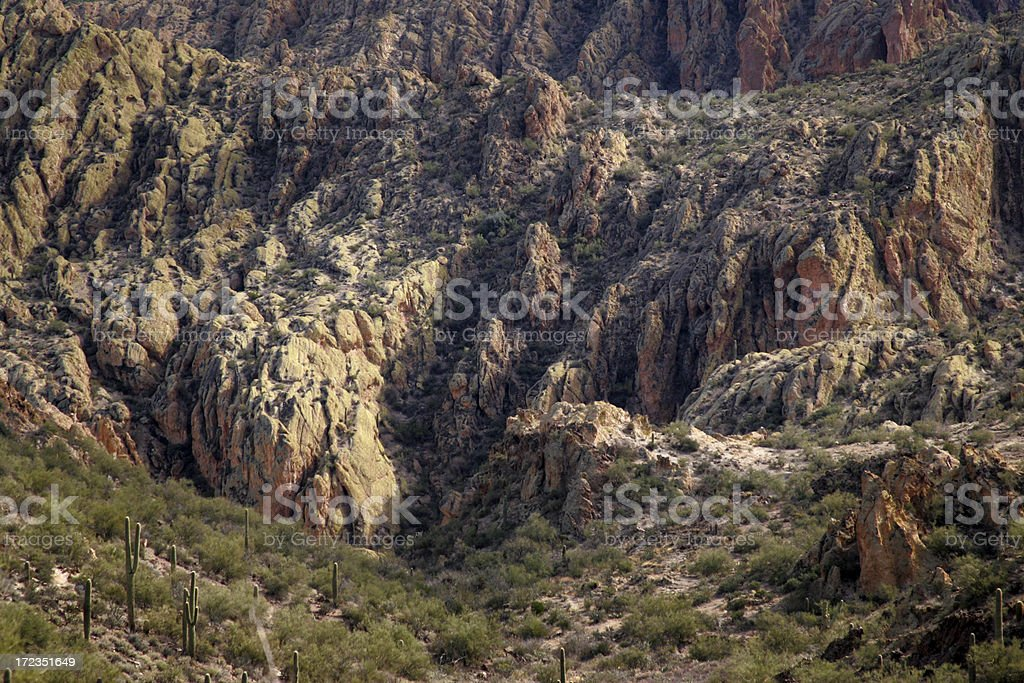 arizona desert near apache lake royalty-free stock photo