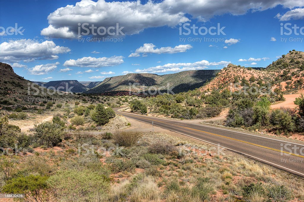 Arizona desert panorama royalty-free stock photo