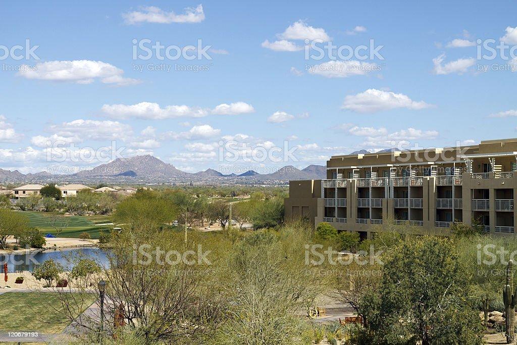 Arizona desert resort hotel royalty-free stock photo