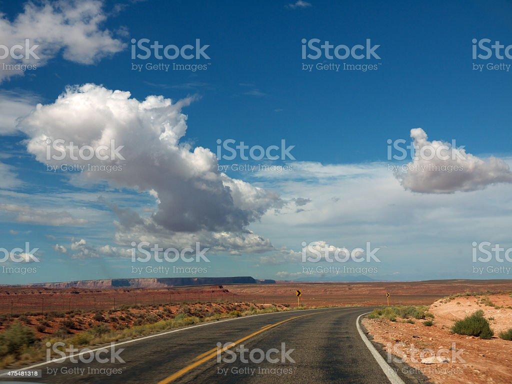 Arizona desert Road stock photo