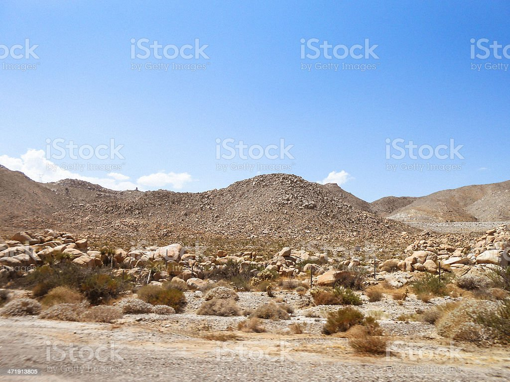 Arizona desertic landscape royalty-free stock photo