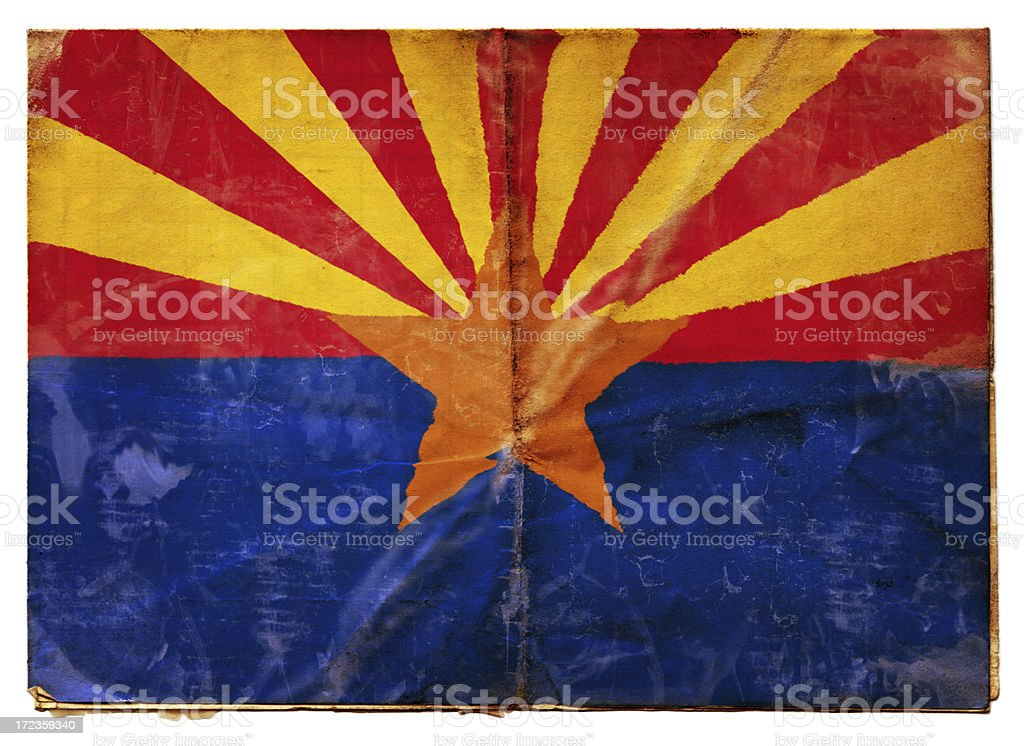 Arizona  flag (XXL) royalty-free stock photo