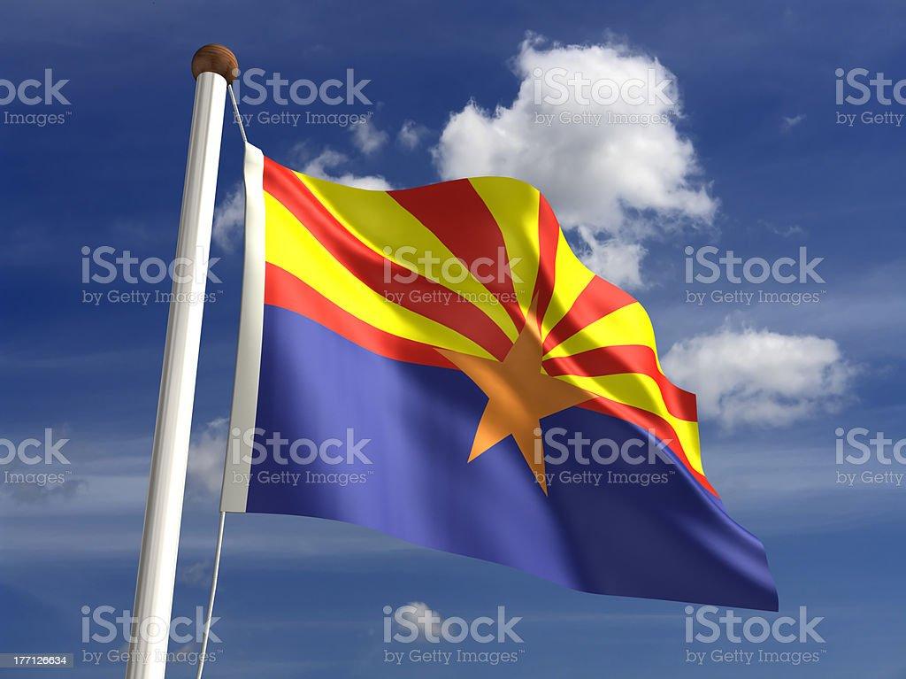 Arizona flag (with clipping path) royalty-free stock photo