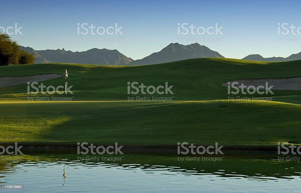 Arizona Golf at Dawn royalty-free stock photo