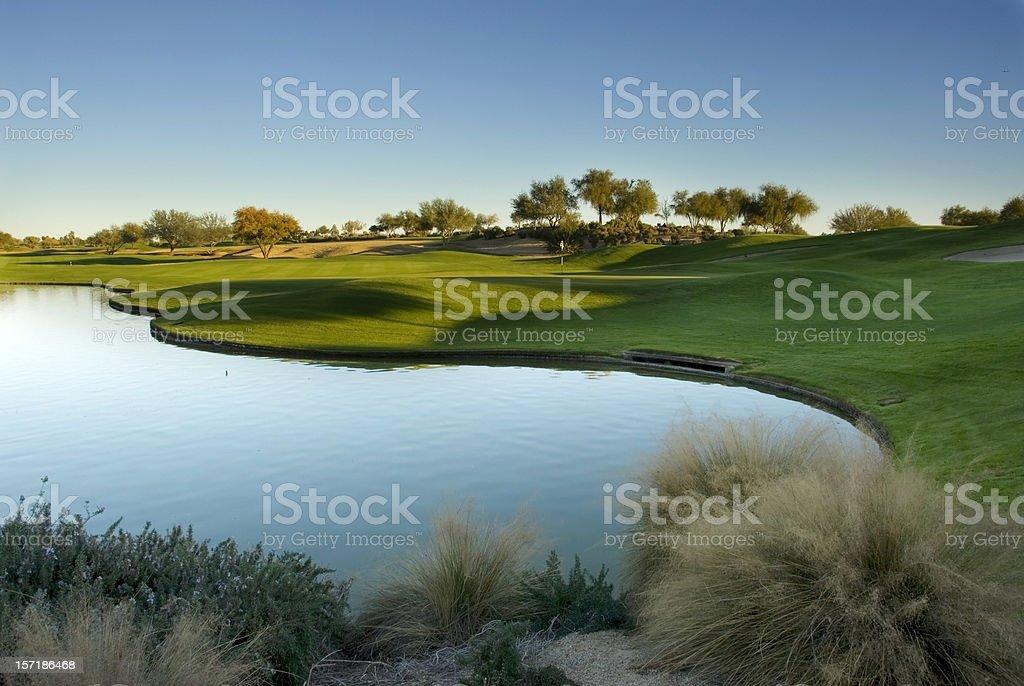 Arizona Golf Course stock photo