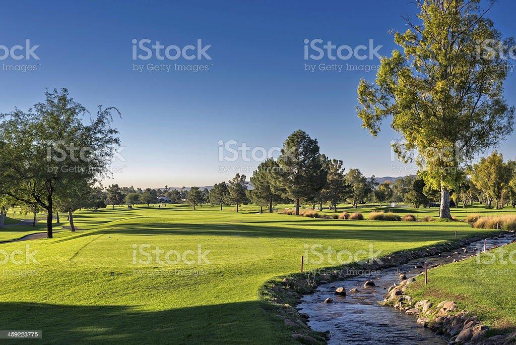 Arizona Golf Landscape stock photo
