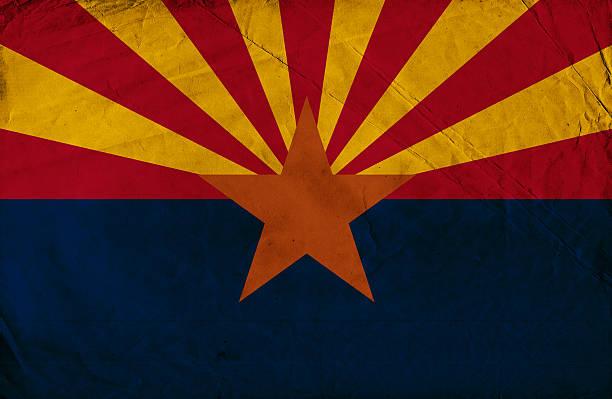 Bandeira de grunge do Arizona - foto de acervo